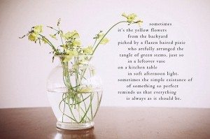 yellow flowers poem and image by Jeanette LeBlanc
