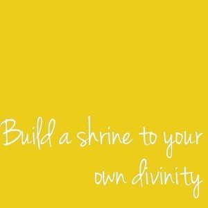 build a shrine