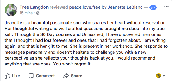 Jeanette LeBlanc Writing Workshop Review