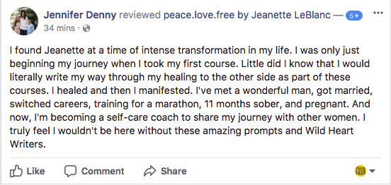 Jeanette LeBlanc Writing Workshop Review