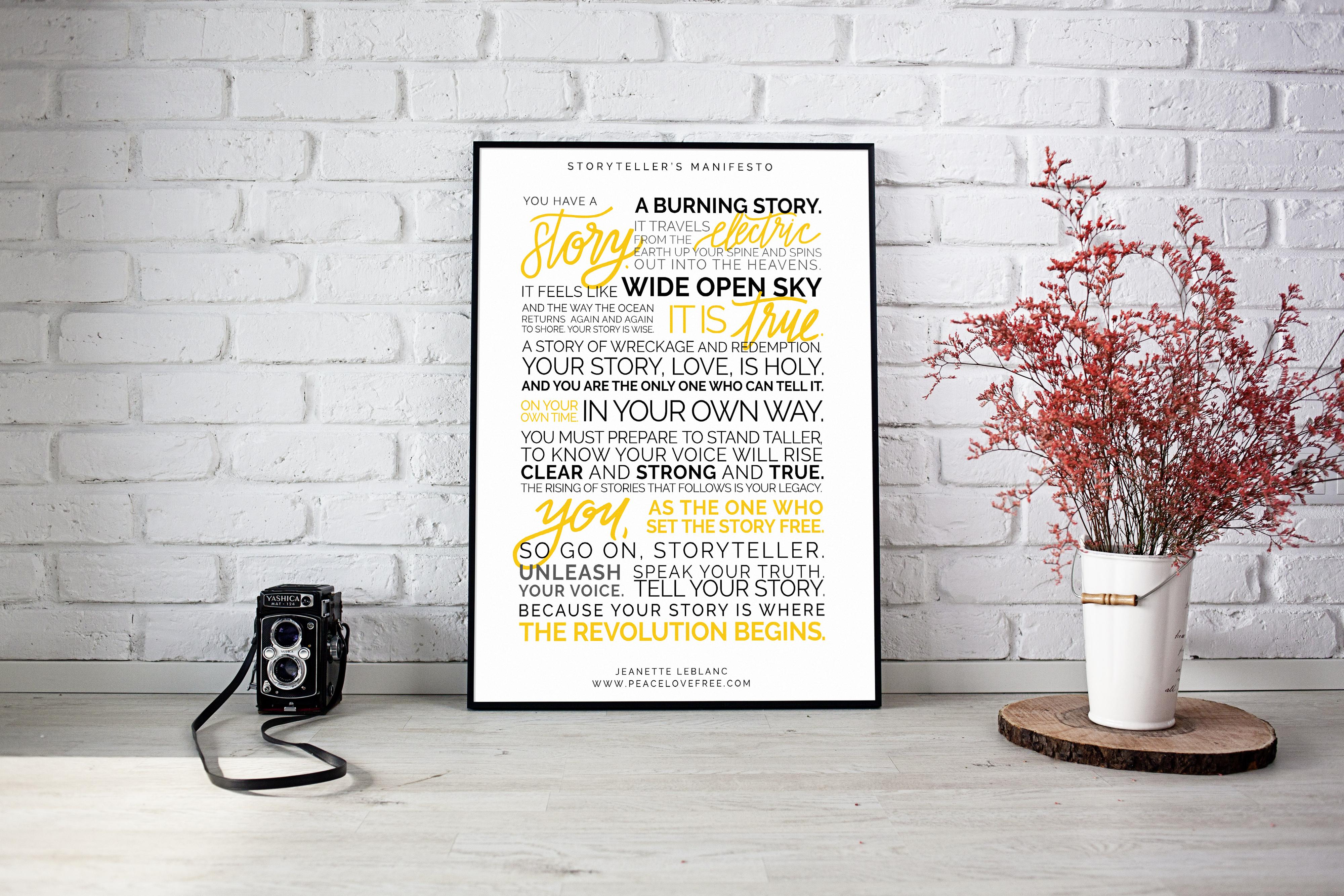 The Storyteller's Manifesto Fine Art Print by Jeanette LeBlanc