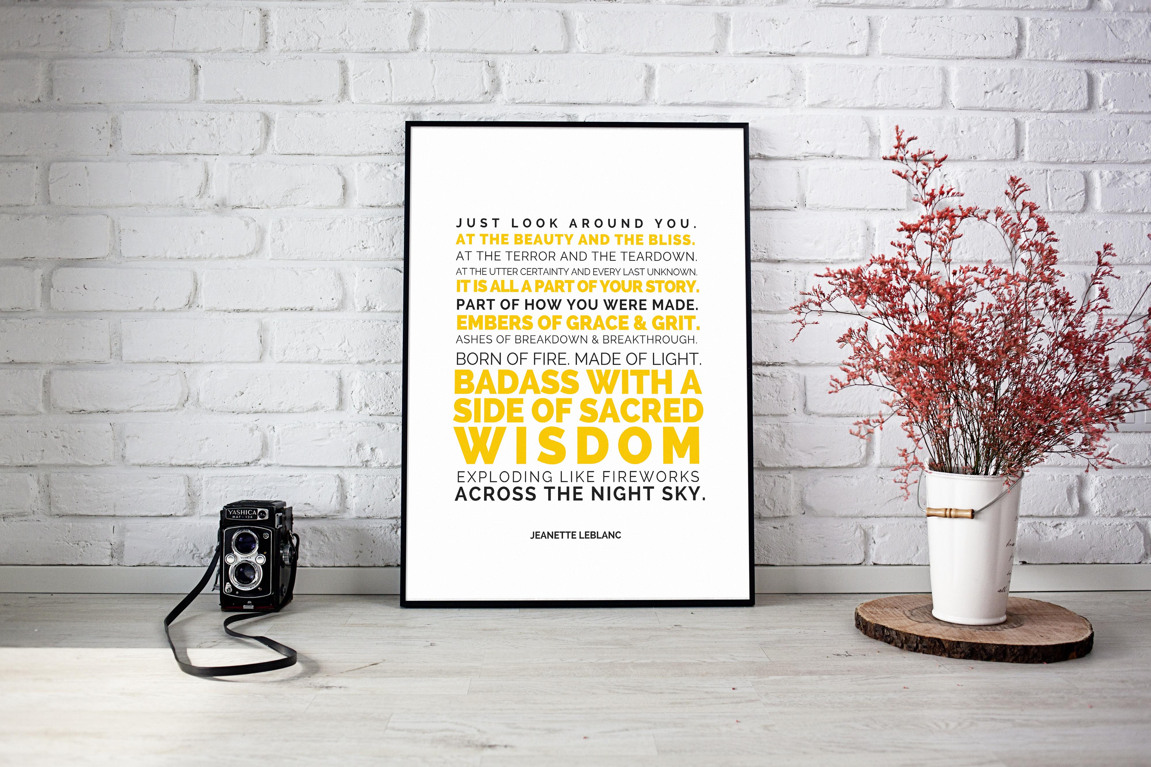 Badass (with a side of sacred wisdom) Fine Art Print - by Jeanette LeBlanc